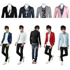 Fashion Stylish Men's Outwear One Button Casual Slim Fit Blazer Suit Coat Jacket
