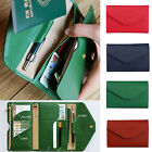 Unisex Faux Leather Passport Travel Wallet Card Holder Cash Organizer Clutch