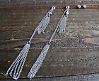 "4.5"" Extra Long Earrings Dangle Tassel Chain Rhinestones Set Fashion Jewelry"