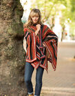 Hand Loomed 100% Alpaca Wool Poncho Cape Wrap Potosi INVISIBLE WORLD