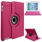 New 360 Rotating Leather Stand Case Cover for Apple iPad 4 3 2 Mini iPad Air 5 6