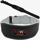 "AQWA Weight Lifting Leather Belt 4"" Back Support Gym Training Power Fitness"