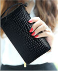 New Fashion 5 Colors Women Zipper Leather Wallet Lady Purse Handbag