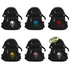 Vintage Style Black Canvas Backpack Marvel Punisher Flag Gym Hiking School Bag