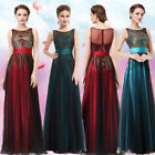 Women's Green Elegant Long Evening  Party Evening Formal Dress Prom Gowns 08740