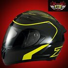 Z1R Strike Ops Full Face Black & Yellow  Motorcycle Helmet