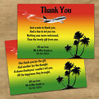 Personalised Wedding Thank You Cards + Envelopes After Marriage Abroad Jamaica