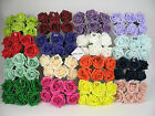 6cm Colourfast Artificial Foam Rose. Wedding/Craft Flowers.8 bunches of 6 =48
