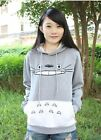 Top-Quality Anime clothes My Neighbor Totoro gray hooded sweatshirt stuffed Tops