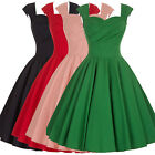 Hot Women's Sleeveless Vintage 1950's Style Swing Evening Party Dress