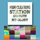 Fish Cleaning Station - Vinyl Decal Sticker - Multiple Patterns & Sizes - ebn291
