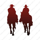 Cowboys Horse Riding - Vinyl Decal Sticker - Multiple Gradient & Sizes - ebn827