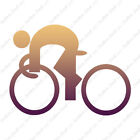 Bicycle Rider Exercise - Decal Sticker - Multiple Patterns & Sizes - ebn1294