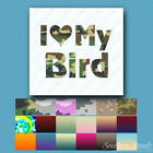love bird chocolates - I Love My Bird - Vinyl Decal Sticker - Multiple Patterns & Sizes - ebn1201