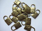 10, 20,  30  Bronze Plated Valentine 'LOVE' Heart Tibetan Lock Charm Pendants