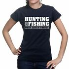 Hunting Fishing Tackle Bait Rod Carp Fly Fisherman Ladies Womens Girls T shirt