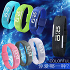 Men Women Rubber LED Waterproof Watch Date Bracelet Digital Sport Wristwatch New image