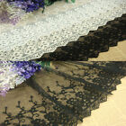 MAT320 One yard White BLACK IVORY TULLE Embroidery Lace Fabric FLOWER 14.5CM
