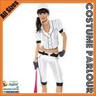 Womens Baseball Sports USA Yankees Fancy Dress Ladies Uniform Costume
