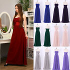 US Long Chiffon Wedding Bridesmaid Dresses Prom Homecoming Ball Gowns 09955