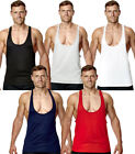 MENS BLACK BODYBUILDING GYM MUSCLE STRINGER VEST Y BACK RACERBACK TANK TOP TEE
