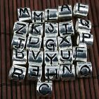 5p Silver Plated 26 A-Z Letters Charm Beads for European Charm Bracelet DIY Gift