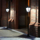 2 SOLAR POWERED 6 LED LAMP POST SECURITY PATH STAKE OUTDOOR GARDEN LIGHTS - 1.2M