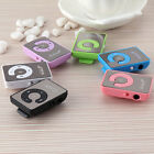 Mirror Clip USB Digital Mp3 Music Media Player Support 1-8GB SD TF Card New Gift