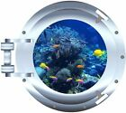 Ocean Tropical Fish porthole decal Camper RV motor home mural graphic