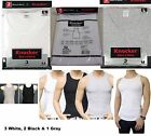6 Mens Tank Top 100% Cotton A-Shirt Wife Beater Ribbed Undershirt size S-3XL