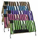 "32"" x 32"" Fleece Bottom SADDLE PAD with Woven Acrylic Top & Suede Wear Leathers"