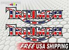 "2 TRIUMPH Motorcycle 9"" British Flag Vinyl Decals Bonneville Tiger Tank Sticker €6.27 EUR on eBay"