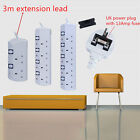 2,4,5 Way 13A UK Plug Outlet Power 3M Extension Cable Socket independent switch