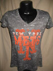 MLB New York Mets Baseball Shirt Top Womens Sizes Nwt Majestic Gray Style Tee
