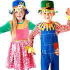 Mr or Mrs Scarecrow Kids Fancy Dress Wizard Oz Book Day Week Childs Costumes New