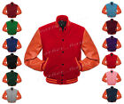 ORS-ORS-BB 2 Superb Faux Leather Sleeve Letterman College Varsity Wool Jackets