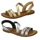 SALE* Leather Collection F0936 Gold or Silver Leather Summer Gladiator Sandals