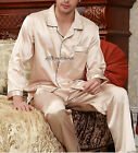 Valentine's Mens Satin Silk Pajama Set US M L XL XXL 3XL Loungewear Multi-color
