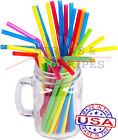 100 FLEXIBLE plastic drinking straws - 8 1/4 x 0.23 Inch - color selectable