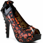 IRON FIST RAW POWER PEEP TOE PLATFORM HIGH HEEL  SHOES - ORANGE