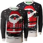 Christmas Santa Pom Pom Novelty Jumper  Mens Size