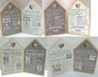 Rules Wooden Sign Plaque Chic Shabby Heart Home House Wall Plaque Rustic Vintage