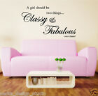 WALL QUOTES A GIRL SHOULD BE TWO THINGS WALL DECAL STICKERS WALL ART QUOTE  N47