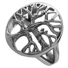 Men Women Tree of Life Christmas Gift Dating Wedding Stainless Steel Finger Ring