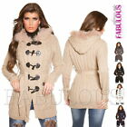 Women's Thick Warm Cardigan Knit Top Jacket Winter Outerwear Size 6 8 10 XS S M