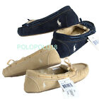 New Polo Ralph Lauren Women Pony Moccasins Slippers Shoes 6 8