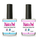 Nail Paint & Peel Off Liquid Nails Art Tape Blue Latex Rubber Choice of 2 size