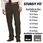 Boys Sturdy Fit School Trousers Plus Fit Half Elasticated Generous