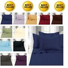 1500 Thread Count Sheet Set Dobby Stripe FULL,QUEEN,KING,CAL KING SIZE 10 COLORS image