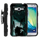 Galaxy J3 |Amp & Express Prime| Clip + Holster + Case Combo stand Skull Monster